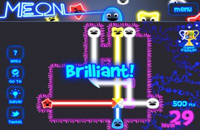 Screenshots of the Meon game for iPhone, iPad or iPod.