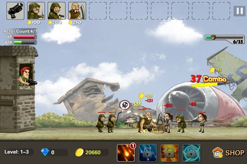 Écrans du jeu Metal defense pour iPhone, iPad ou iPod.