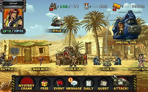 Download Metal slug attack iPhone free game.