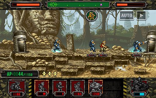 Screenshots of the Metal slug attack game for iPhone, iPad or iPod.