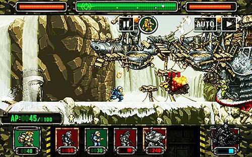 Геймплей Metal slug attack для Айпад.