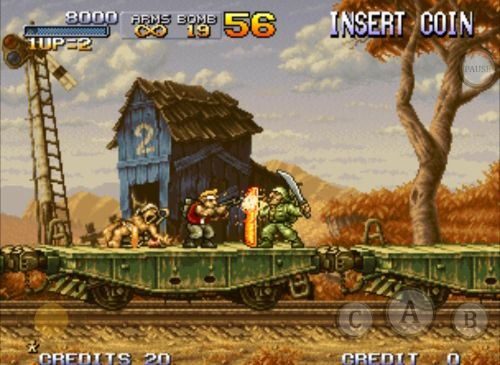 Download Metal slug X iPhone free game.