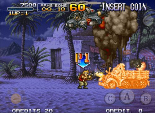 Free Metal slug X download for iPhone, iPad and iPod.