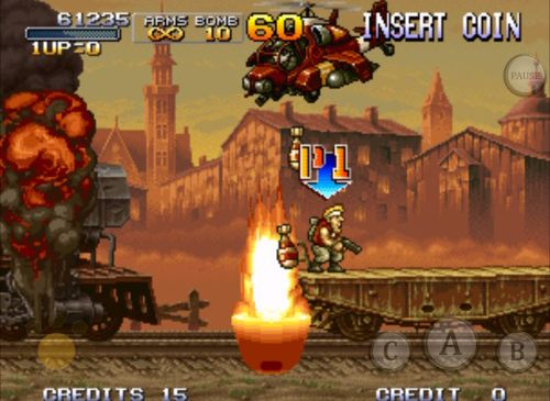 Screenshots of the Metal slug X game for iPhone, iPad or iPod.
