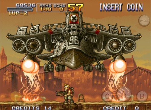 Capturas de pantalla del juego Metal slug X para iPhone, iPad o iPod.