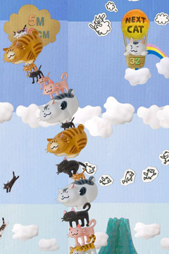 Capturas de pantalla del juego MewMew Tower Toy para iPhone, iPad o iPod.