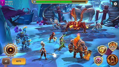 Screenshots vom Spiel Might and magic: Elemental guardians für iPhone, iPad oder iPod.