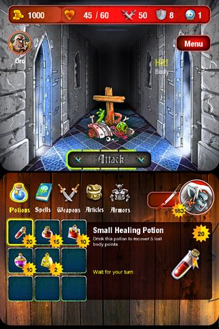 Écrans du jeu Mighty dungeons pour iPhone, iPad ou iPod.