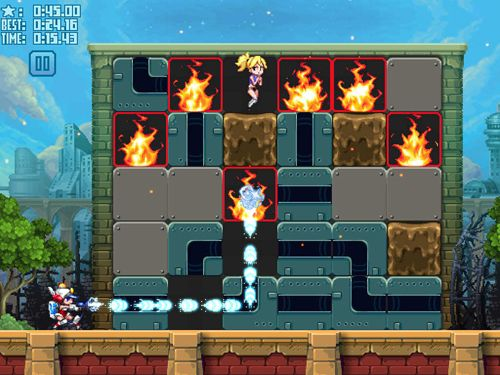 Геймплей Mighty switch force! Hose it down! для Айпад.