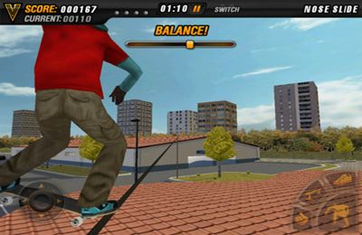 Screenshots vom Spiel Mike V: Skateboard Party für iPhone, iPad oder iPod.