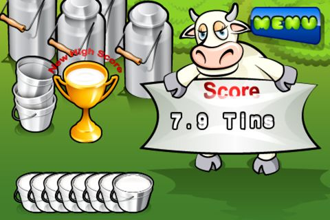 Capturas de pantalla del juego Milk the cow para iPhone, iPad o iPod.