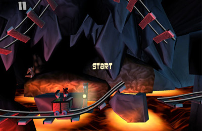 Screenshots of the Mine Cart Mishap game for iPhone, iPad or iPod.