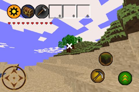 Screenshots of the Minebuilder game for iPhone, iPad or iPod.