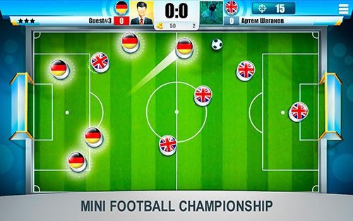 Capturas de pantalla del juego Mini football: Championship para iPhone, iPad o iPod.