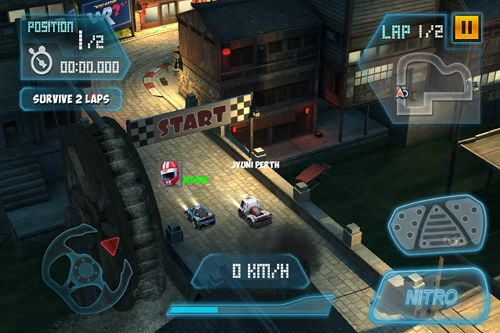 Screenshots of the Mini motor WRT game for iPhone, iPad or iPod.