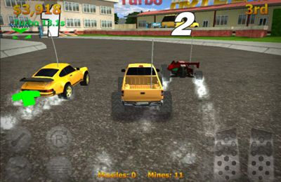 Screenshots of the Mini Racers game for iPhone, iPad or iPod.