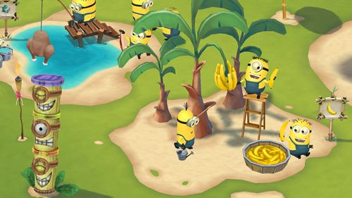 Free Minions paradise download for iPhone, iPad and iPod.