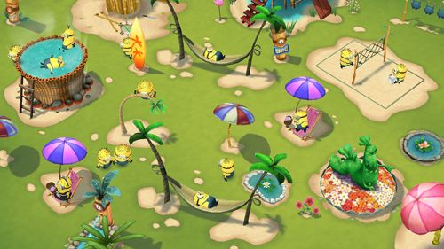 Screenshots of the Minions paradise game for iPhone, iPad or iPod.