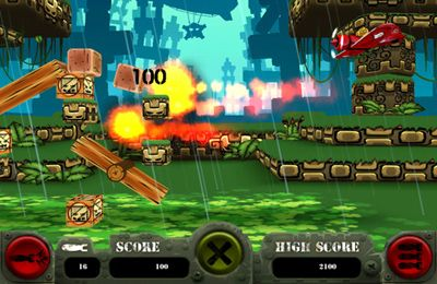 Screenshots of the Missile Monkey game for iPhone, iPad or iPod.