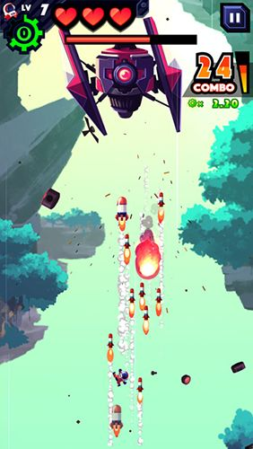 Capturas de pantalla del juego Missileman para iPhone, iPad o iPod.