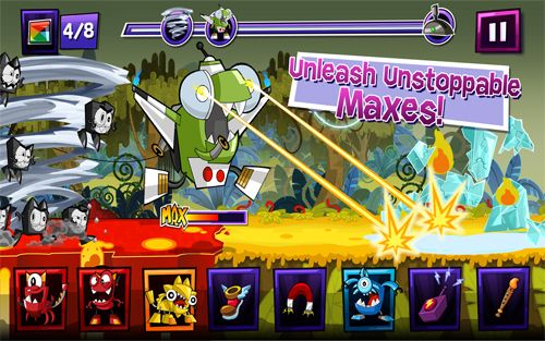Screenshots of the Mixels rush game for iPhone, iPad or iPod.