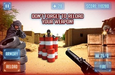 Capturas de pantalla del juego Modern Battlefield AR Shooter para iPhone, iPad o iPod.