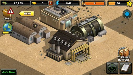 Screenshots of the Modern war game for iPhone, iPad or iPod.