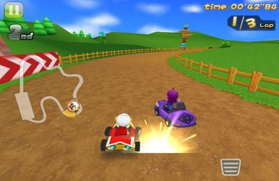 Screenshots do jogo Mole Kart para iPhone, iPad ou iPod.