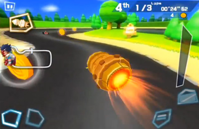 Screenshots do jogo Mole Kart 2 Evolution para iPhone, iPad ou iPod.