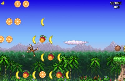 Screenshots of the Monkey Flight game for iPhone, iPad or iPod.