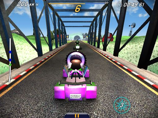 Capturas de pantalla del juego Monkey racing para iPhone, iPad o iPod.