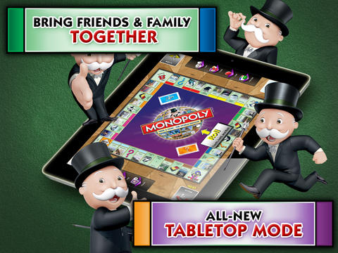 Kostenloser Download von Monopoly Here and Now: The World Edition für iPhone, iPad und iPod.