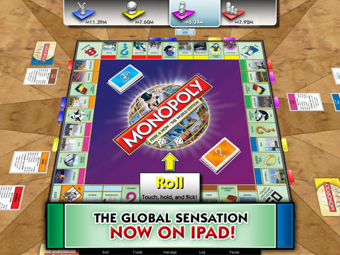 Capturas de pantalla del juego Monopoly Here and Now: The World Edition para iPhone, iPad o iPod.