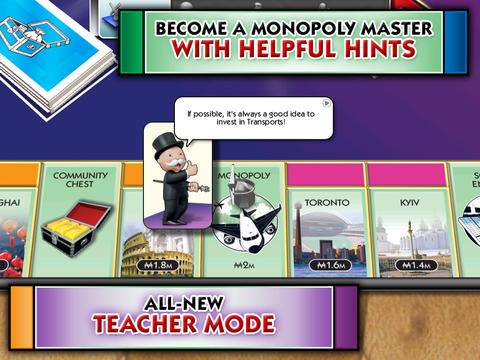 Screenshots vom Spiel Monopoly Here and Now: The World Edition für iPhone, iPad oder iPod.
