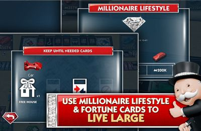 Screenshots of the MONOPOLY Millionaire game for iPhone, iPad or iPod.