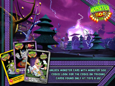 Écrans du jeu Monster 500 pour iPhone, iPad ou iPod.