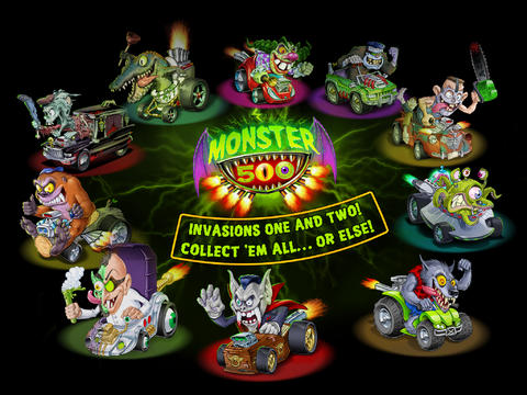 Capturas de pantalla del juego Monster 500 para iPhone, iPad o iPod.
