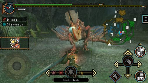 Скриншот игры Monster hunter freedom unite на Айфон.