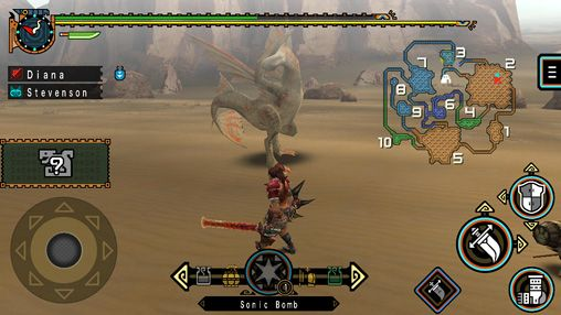 Геймплей Monster hunter freedom unite для Айпад.