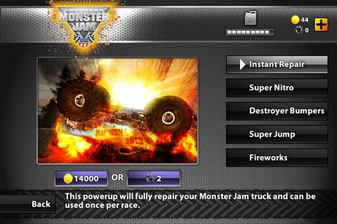 Capturas de pantalla del juego Monster jam game para iPhone, iPad o iPod.