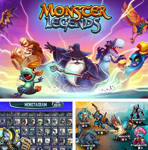 除了 iPhone、iPad 或 iPod 游戏,您还可以免费下载Monster legends, 。