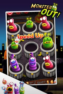 Écrans du jeu Monster Out pour iPhone, iPad ou iPod.
