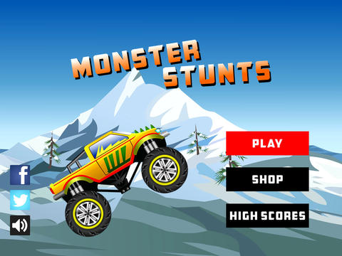 Download Monster stunts iPhone free game.
