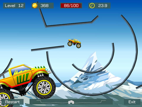 Free Monster stunts download for iPhone, iPad and iPod.