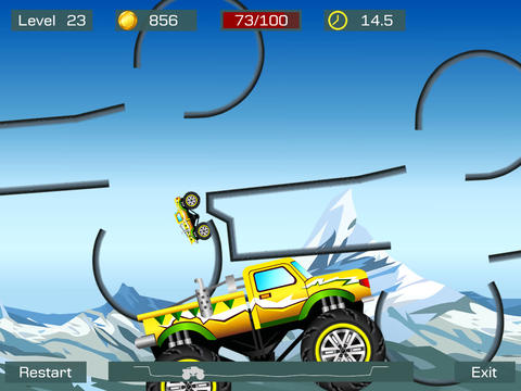 Screenshots of the Monster stunts game for iPhone, iPad or iPod.