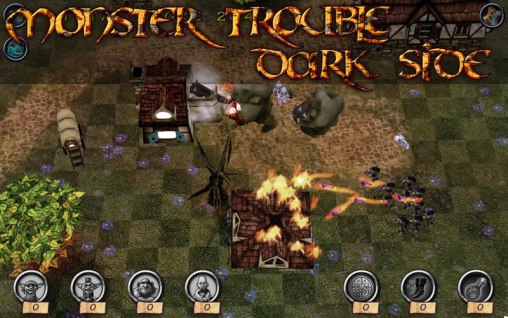 Download Monster Trouble Dark Side iPhone free game.