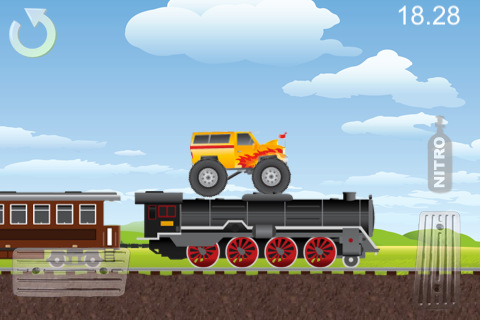 Free Monster Truck Mania download for iPhone, iPad and iPod.
