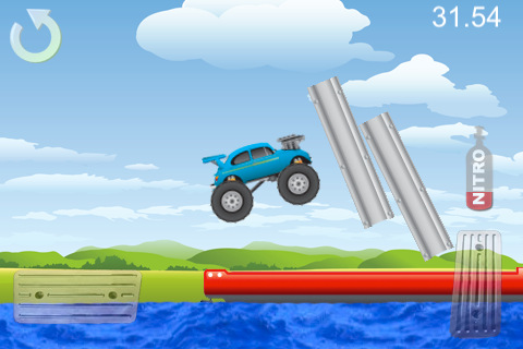 Capturas de pantalla del juego Monster Truck Mania para iPhone, iPad o iPod.