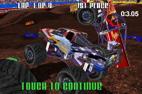 Download Monster Truck Racing iPhone free game.