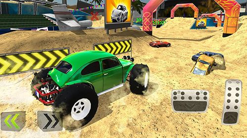 iPhone、iPad または iPod 用Monster truck XT airport derbyゲームのスクリーンショット。